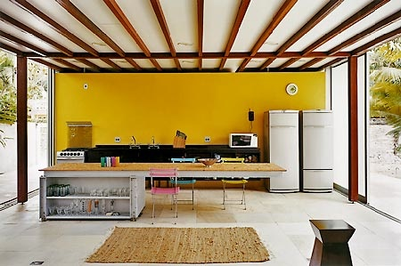 mur-jaune-cuisine-yellow-kitchen-loft