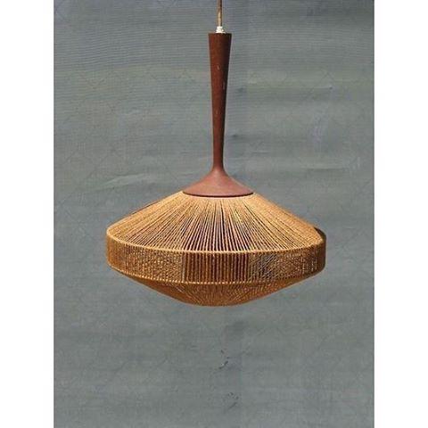 Wish  Lampe fogmorup design ibfabiansen teak teck corde midcenturymodernhellip