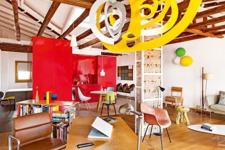 attique, madrid,living,vitra