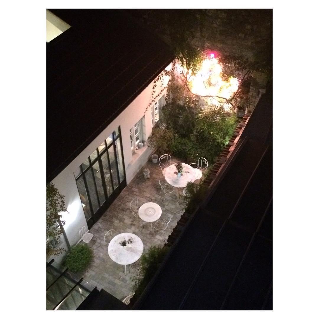 La cour de hotelhenriette vu den haut Paris