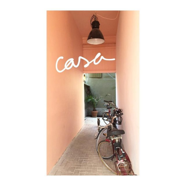 a sent bon le printemps  casamiluccia entryway bike