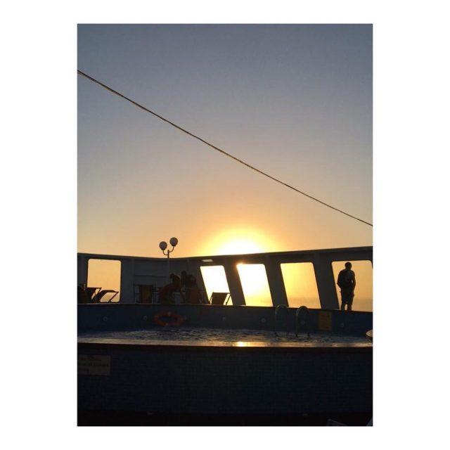 Corse en vue sunset