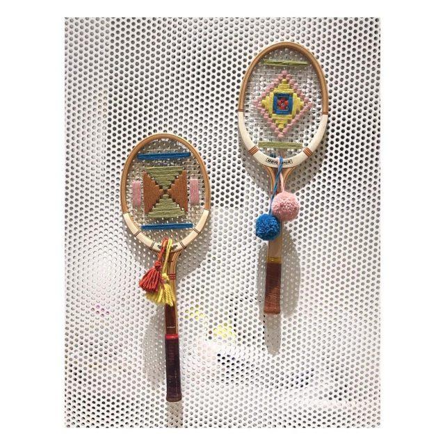 Comment recycler les vielles raquettes de tennis ! weaving diyhellip