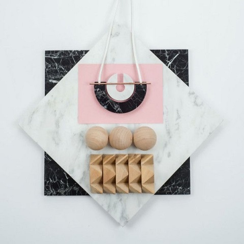 Adorn Milk, Marble Nacklace